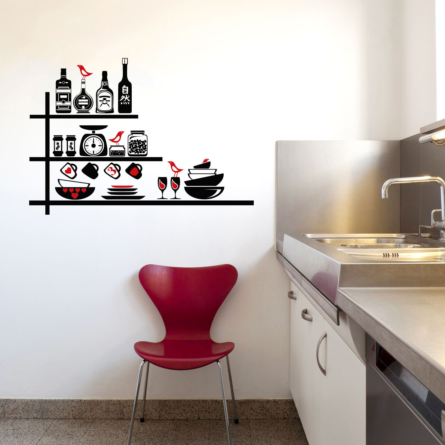 Adesivo de Parede Utensílios de Cozinha bemColar Adesivos De Parede