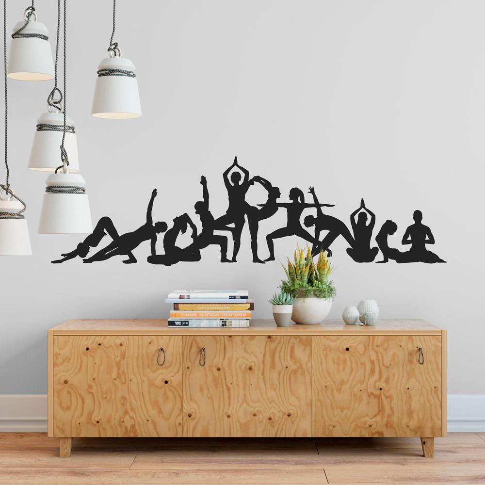 Adesivo de Parede Posições De Yoga