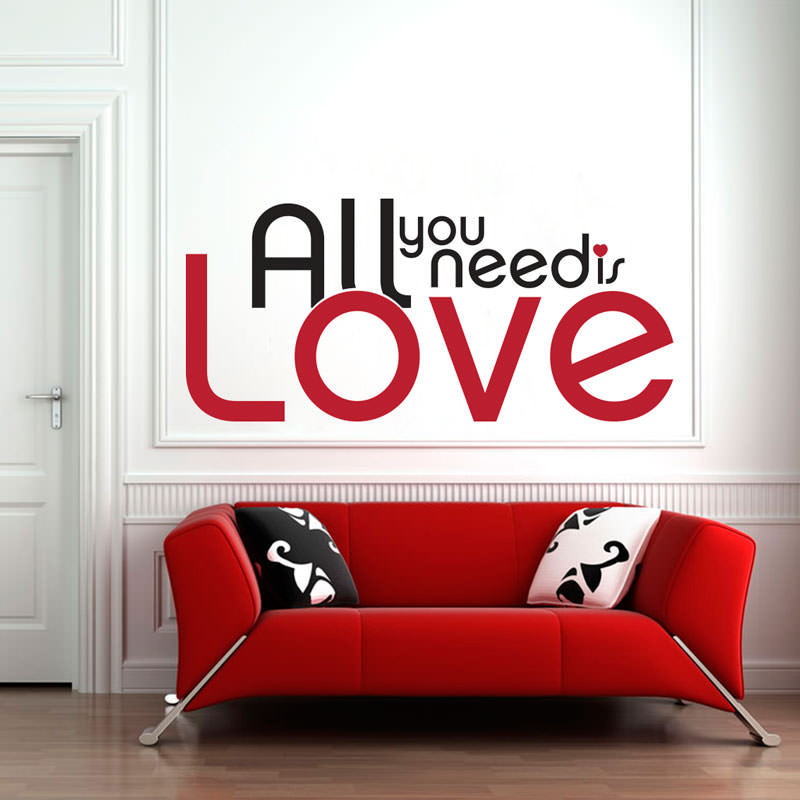 Adesivo de Parede All You Need Is Love