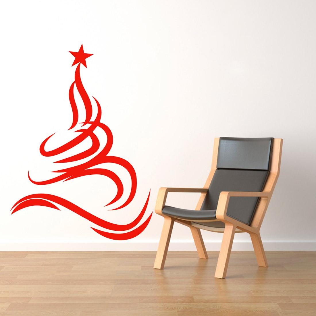 Adesivo Decorativo Árvore de Natal Fitas