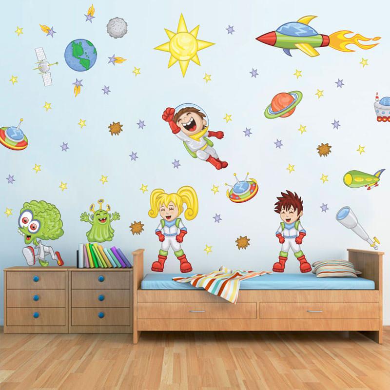 Adesivo de Parede Crianças Astronautas