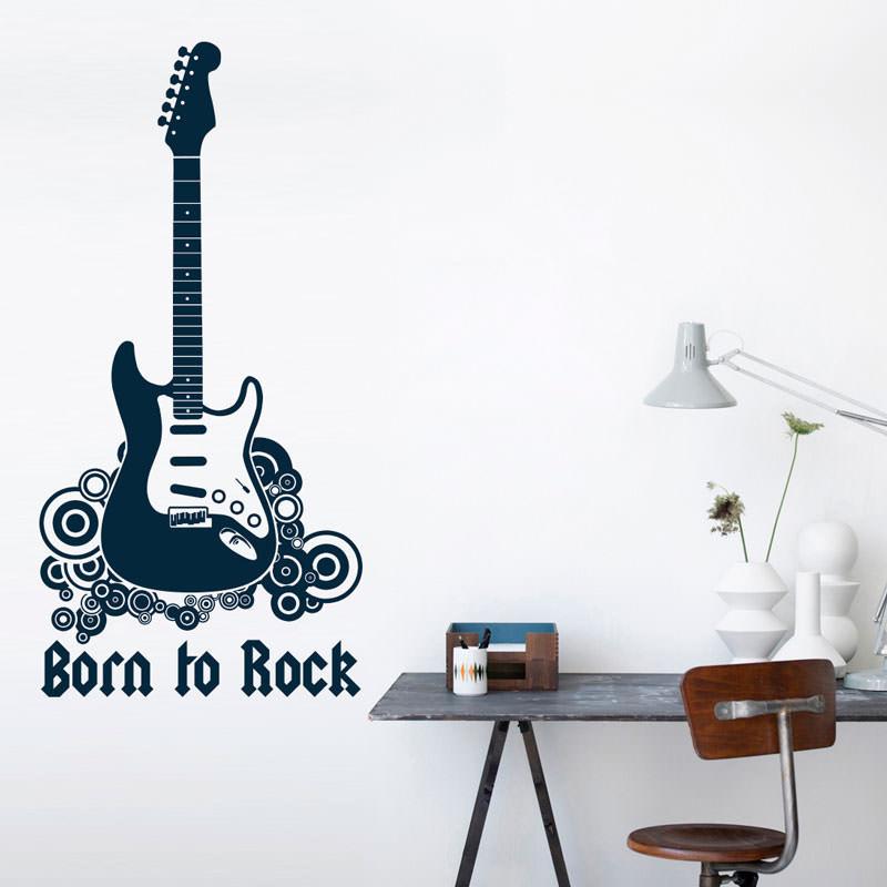 Adesivo de Parede Born to Rock (Nascido Para o Rock)
