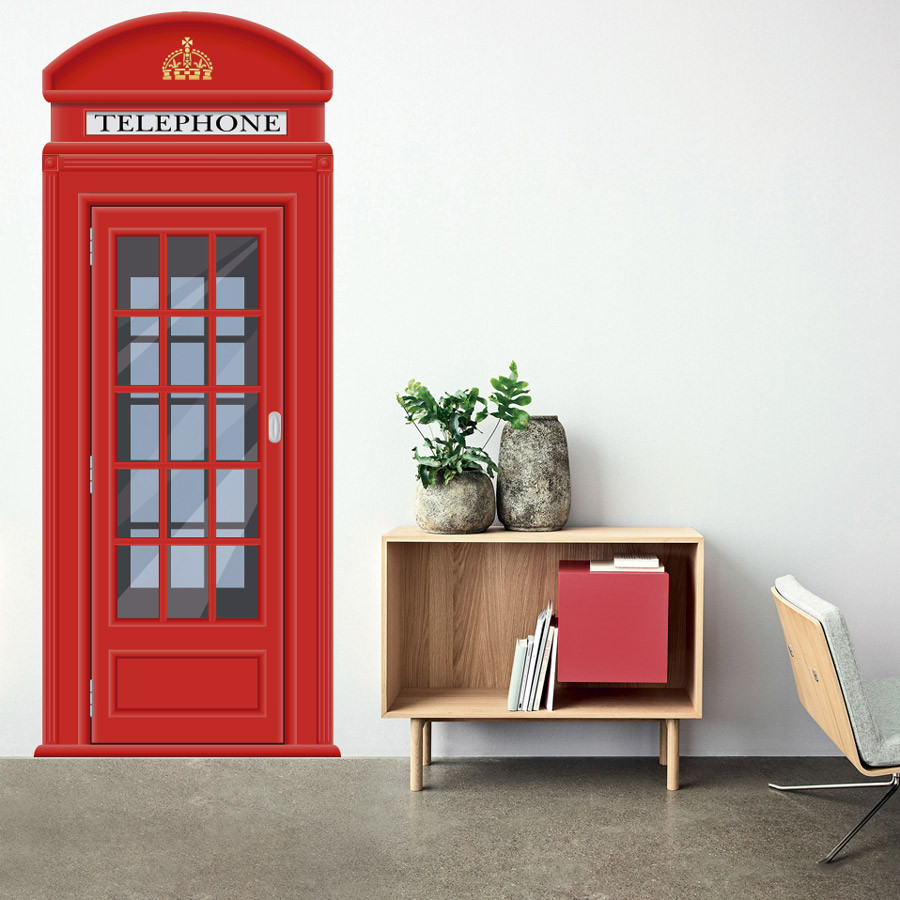 Adesivo de Parede Cabine Telefônica Londres