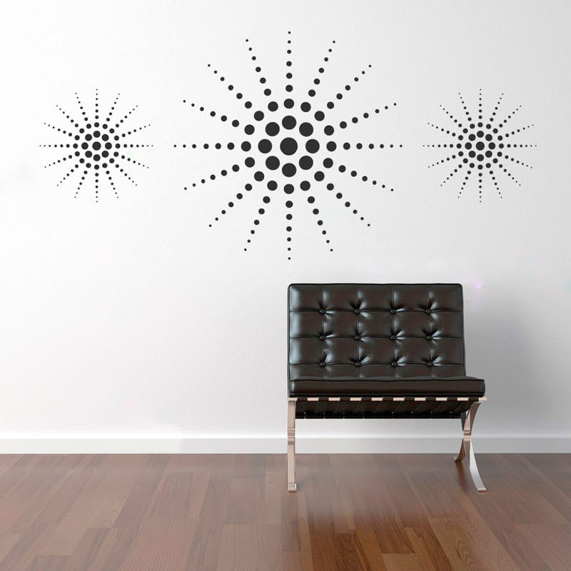 Adesivo de Parede Decorativo Estrela de Bolas