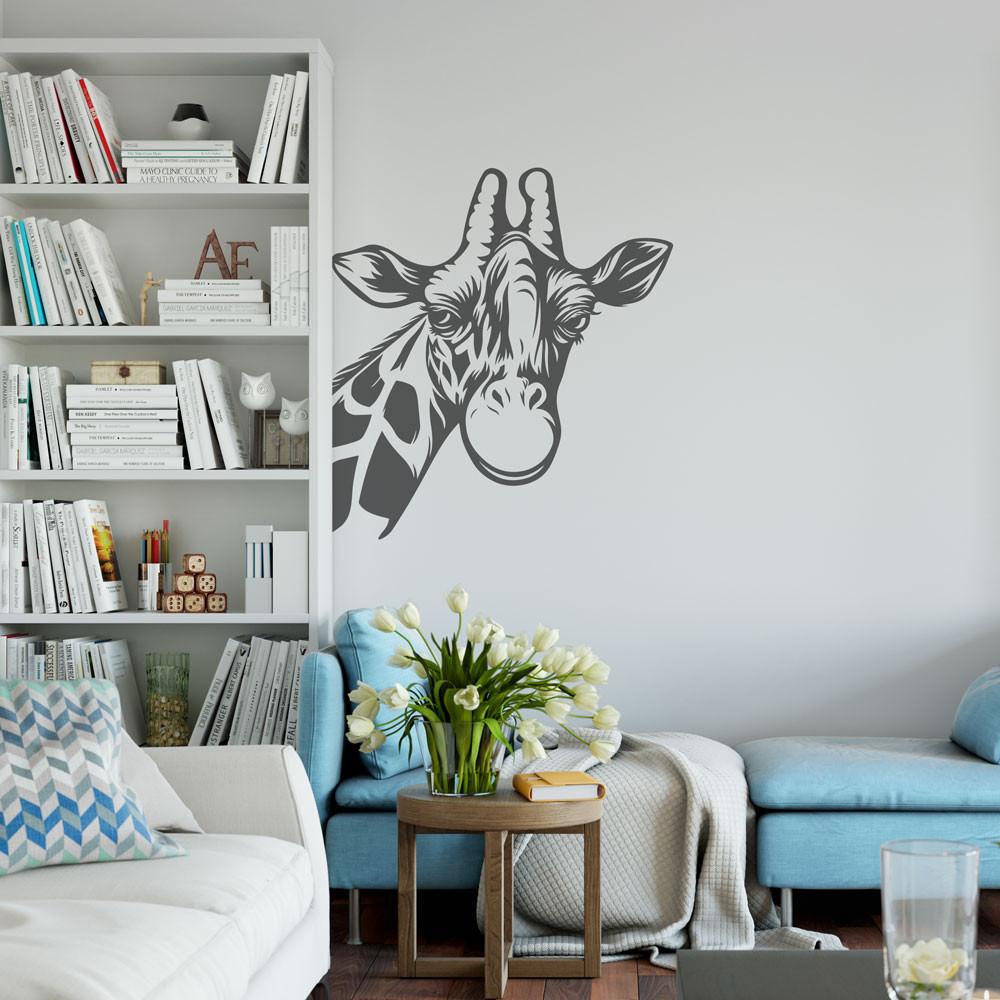 Adesivo de Parede Girafa Para Sala