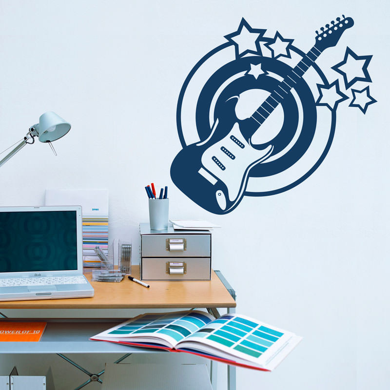 Adesivo Decorativo Guitarra