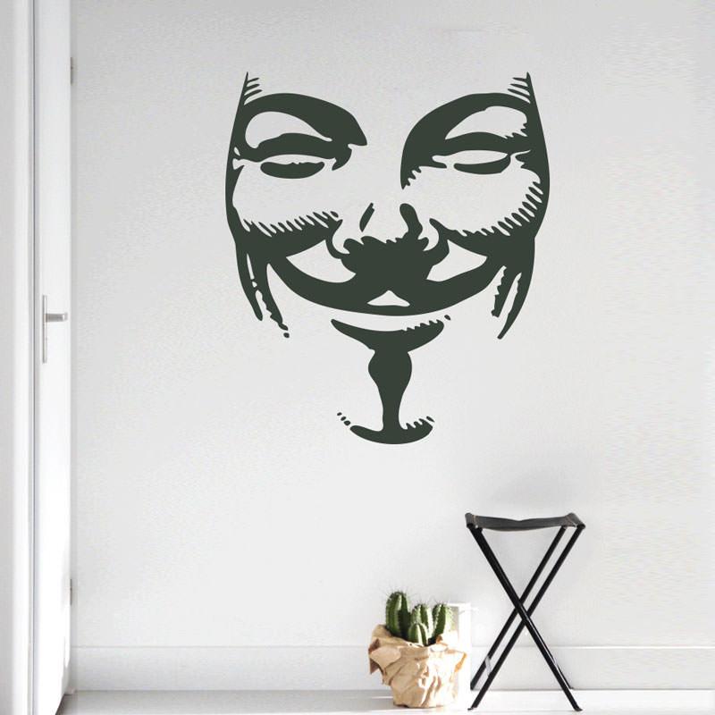 Adesivo de Parede Guy Fawkes