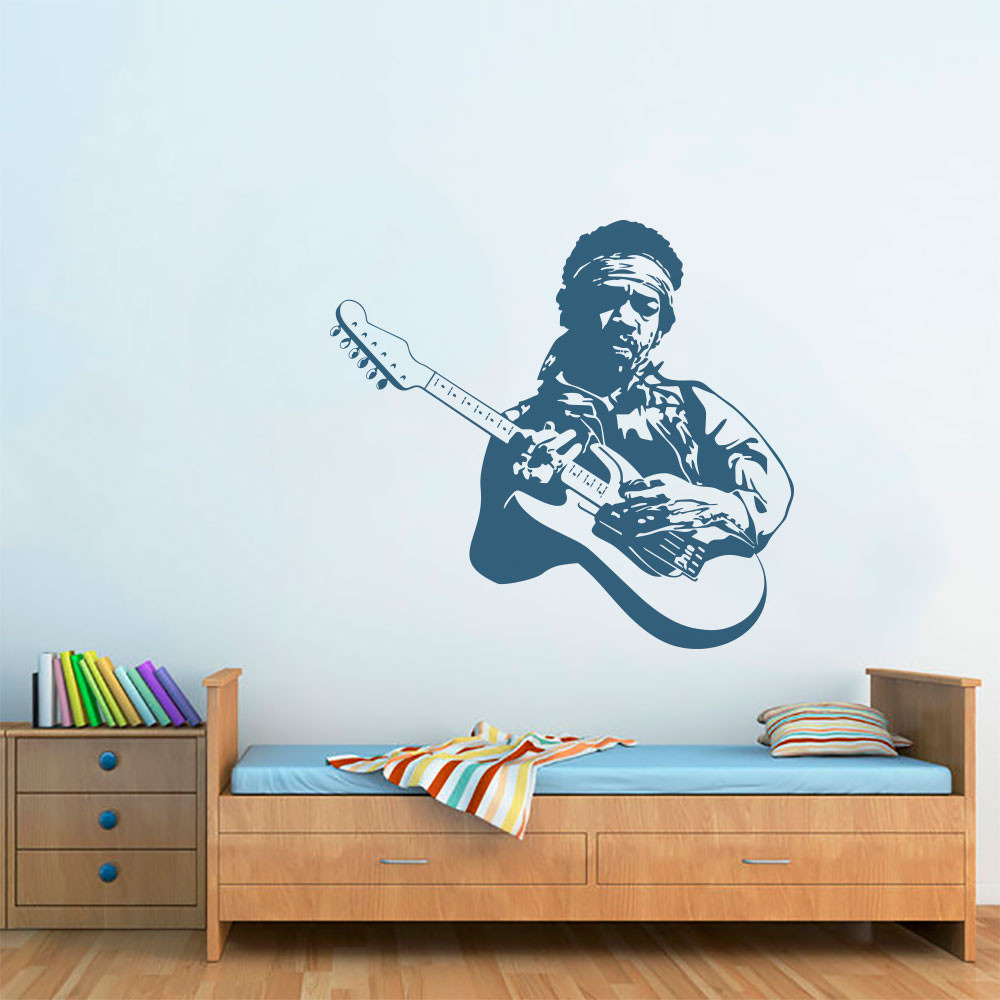 Adesivo de Parede Jimi Hendrix