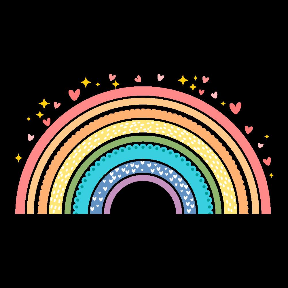 Adesivo de Parede Infantil Arco-Íris