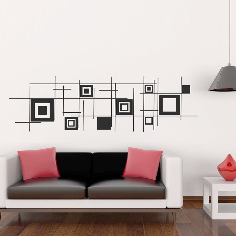 Adesivos de Parede Quadrados Abstratos