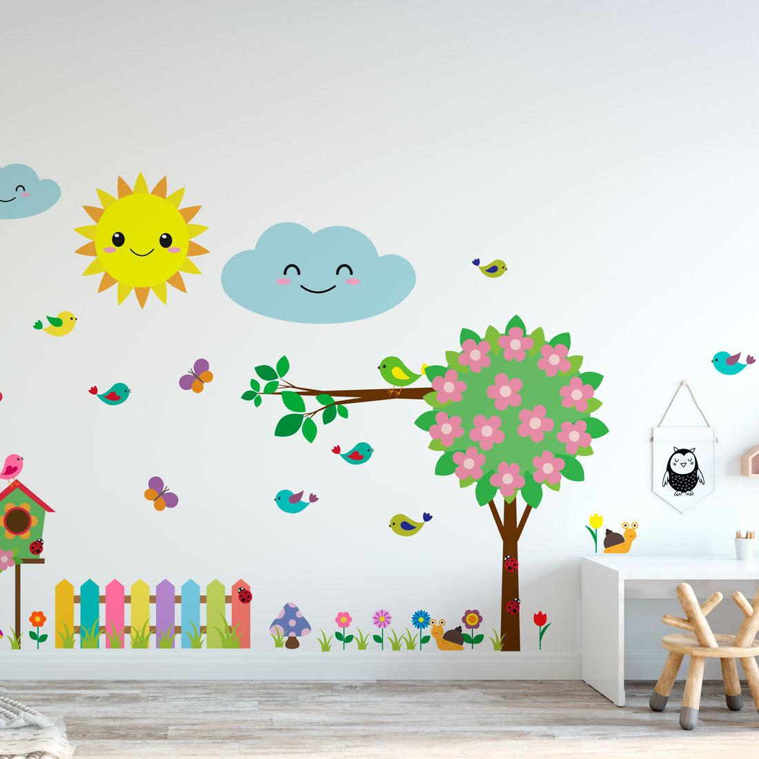 Adesivo de Parede Infantil Jardim