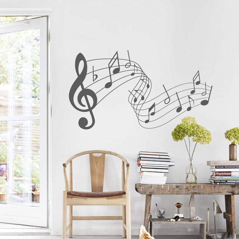 Adesivo Decorativo Notas Musicais