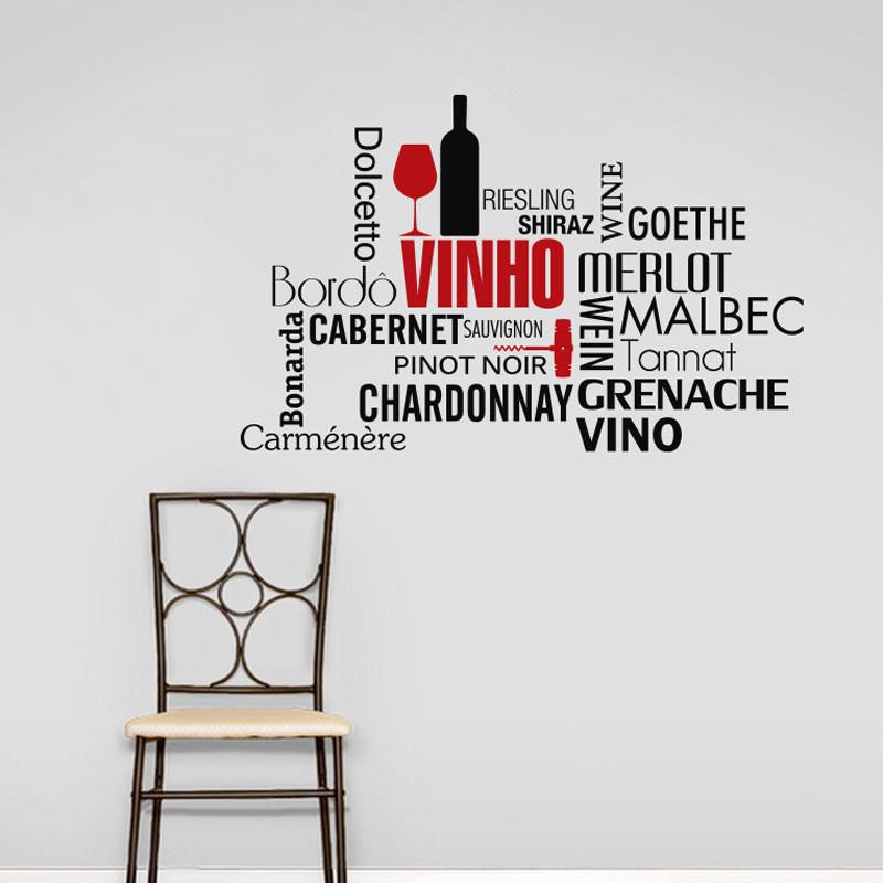 Adesivo Decorativo de Parede Vinho