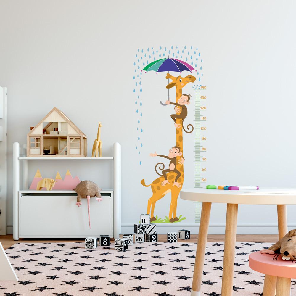 Adesivo de Parede Infantil Régua Medidora Girafa