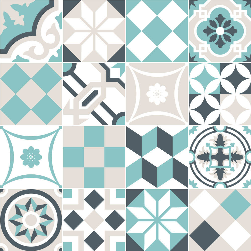 Adesivo Para Azulejo Tons de Verde Água - Simples e Fácil de Aplicar! ✓Frete Grátis* ✓35% OFF ✓Pague em até 6X Sem Juros. Aproveite!