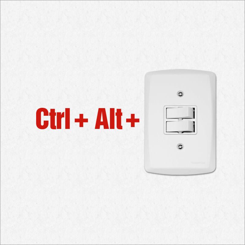 Adesivo para Interruptor Ctrl + Alt + Del