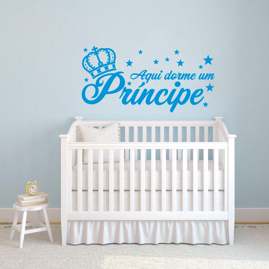 """Adesivo de Parede """"Aqui Dorme um Príncipe"""""""