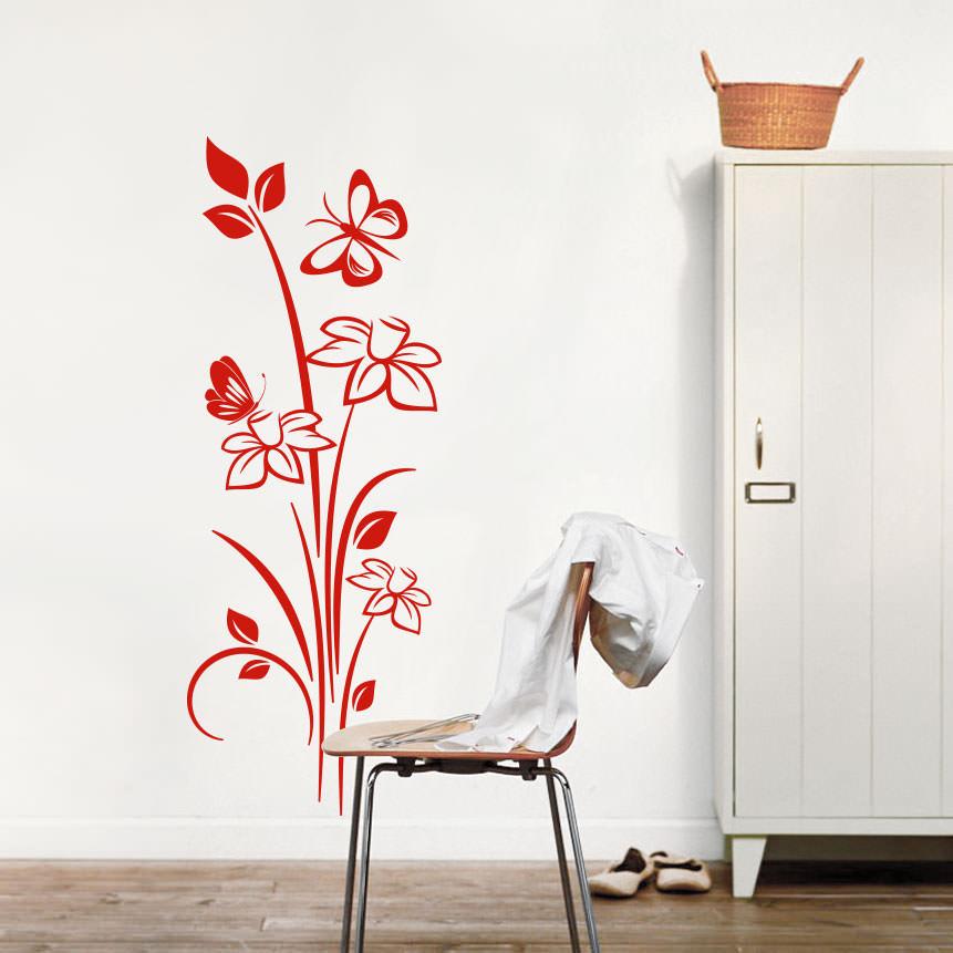 Adesivo Decorativo Floral Nelumbo