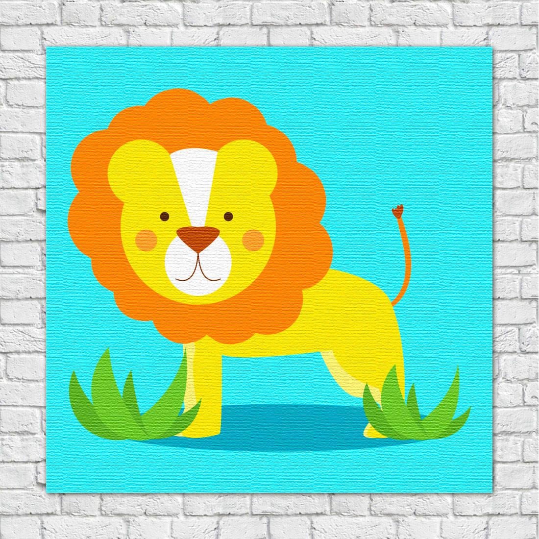 Quadros Decorativos Infantil Animais Divertidos Leão