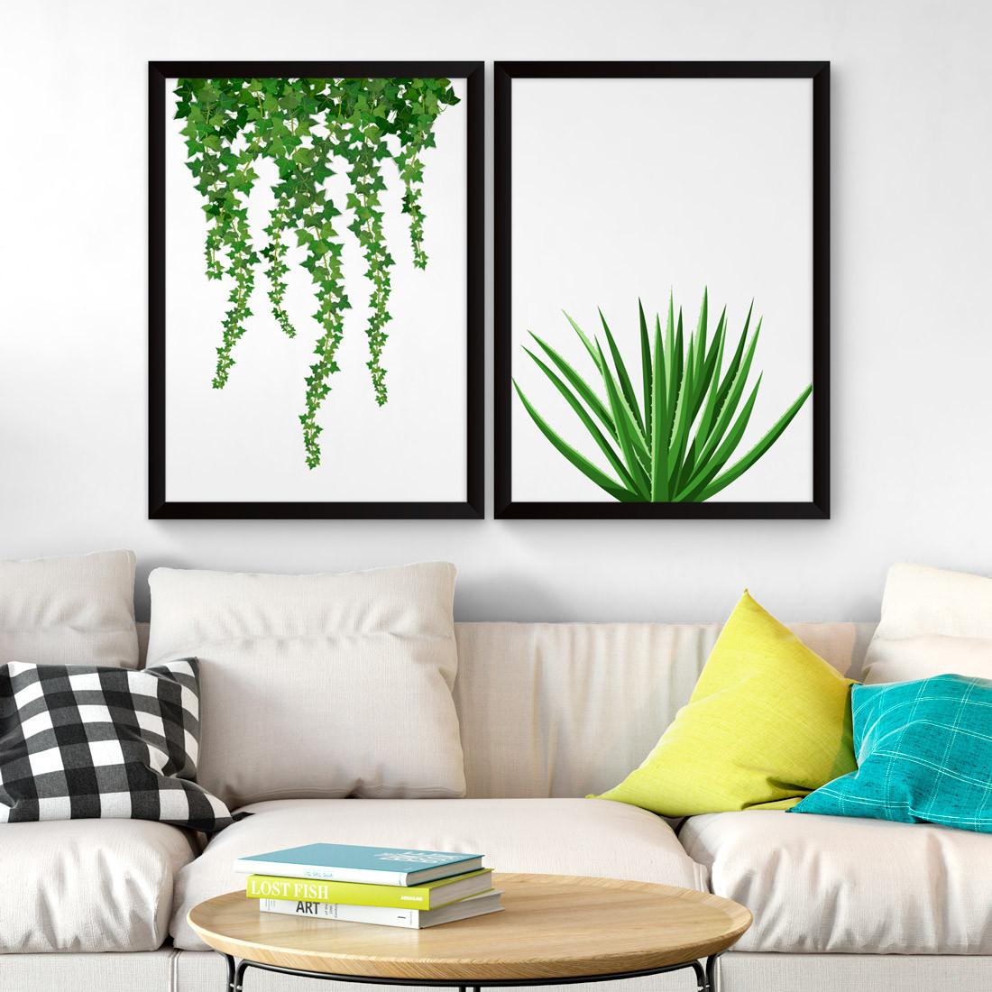 Conjunto de Quadros Decorativos Planta Ivy