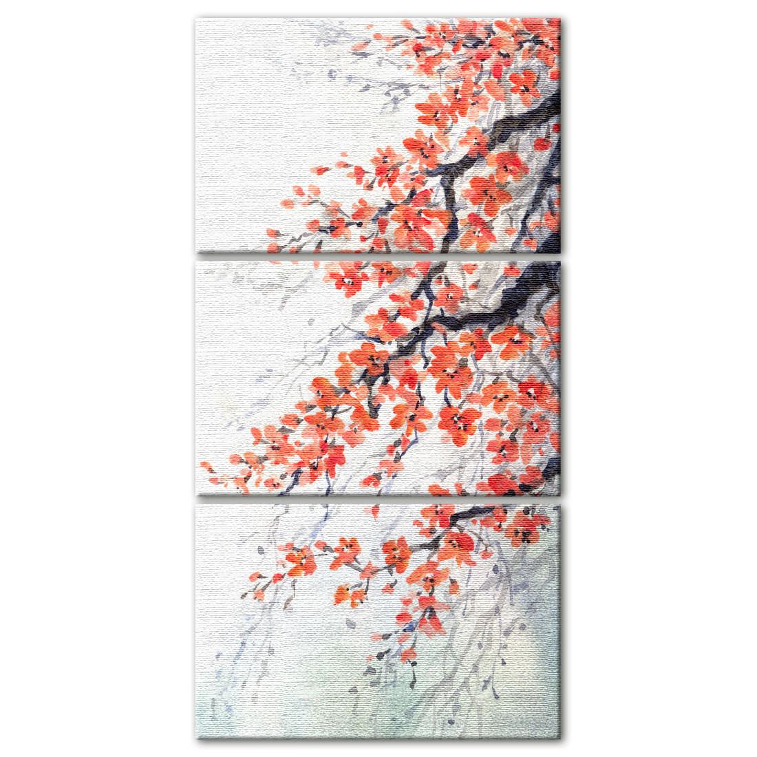 Quadro Decorativo em Canvas Galho Cerejeira