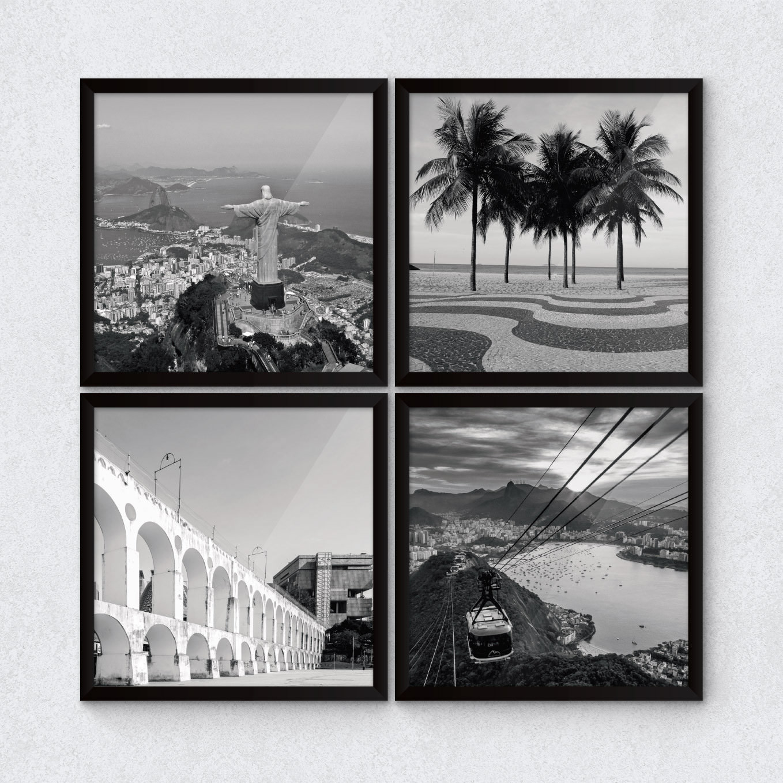 """Conjunto de Quadrinhos Decorativos """"O Rio de Janeiro Continua Lindo"""""""