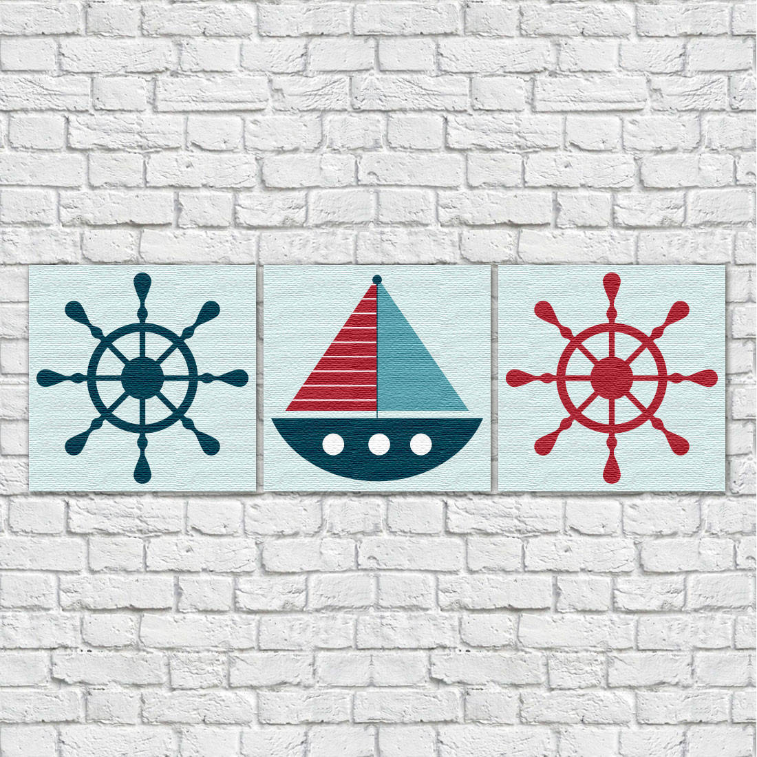 Conjunto de Quadros Decorativos Infantil Marinheiro