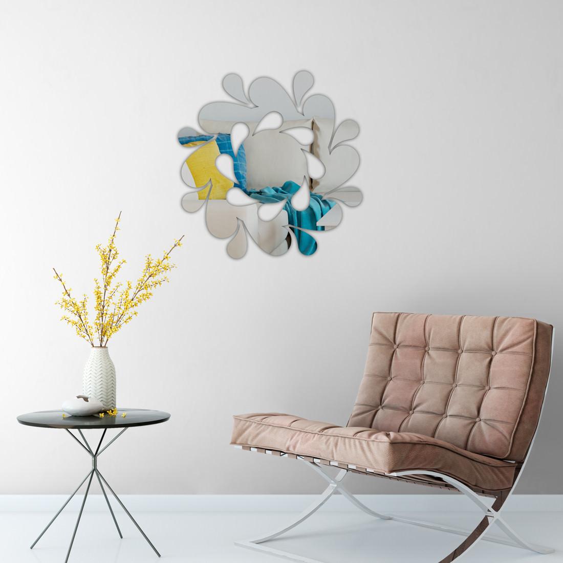 Espelho Decorativo Espiral Abstrata