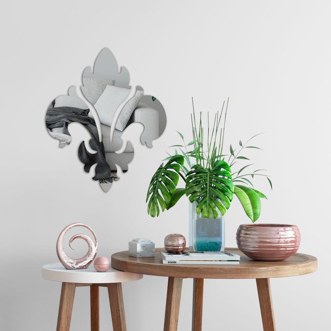 Espelho Decorativo Flor de Lis