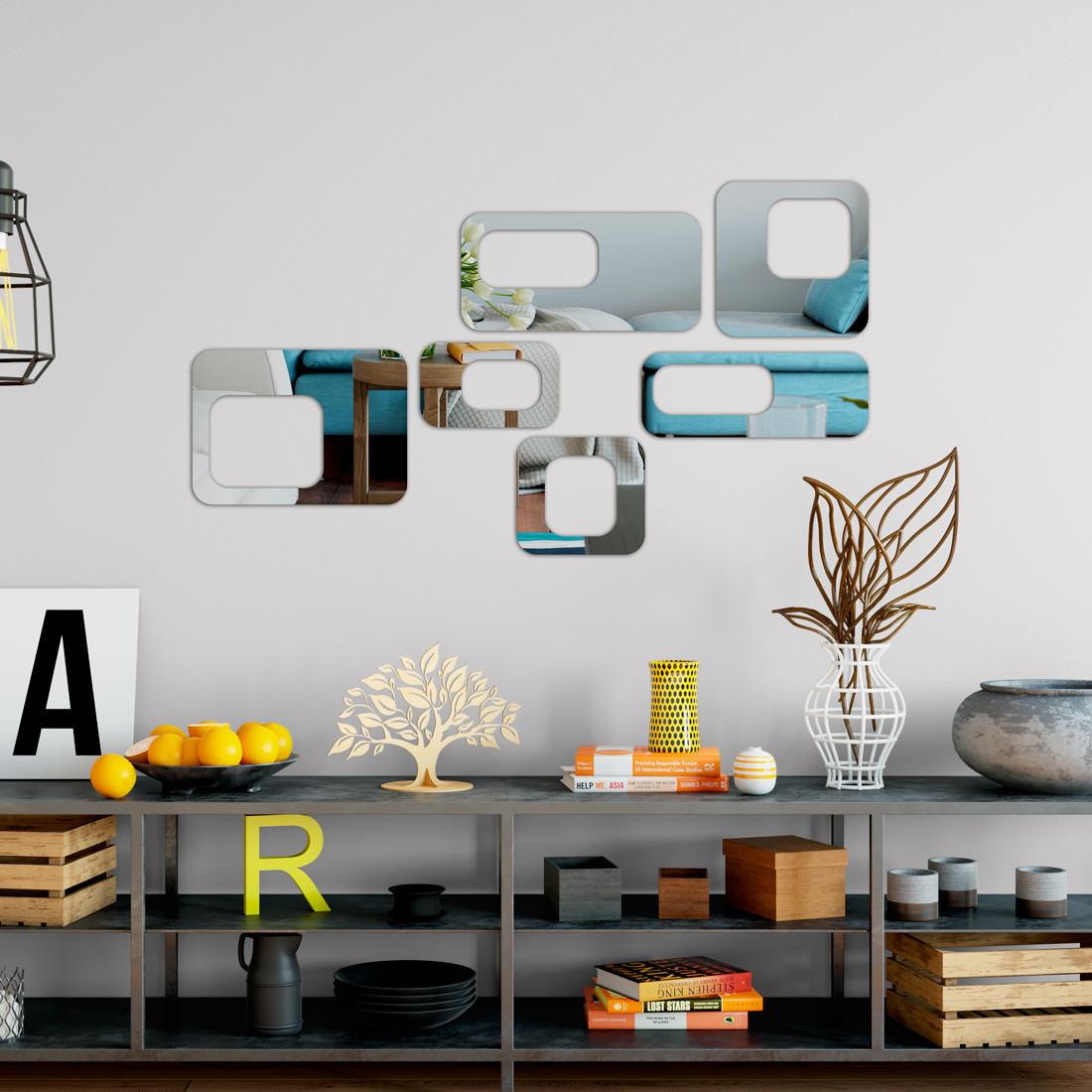 Espelho Decorativo Retângulos Vazados