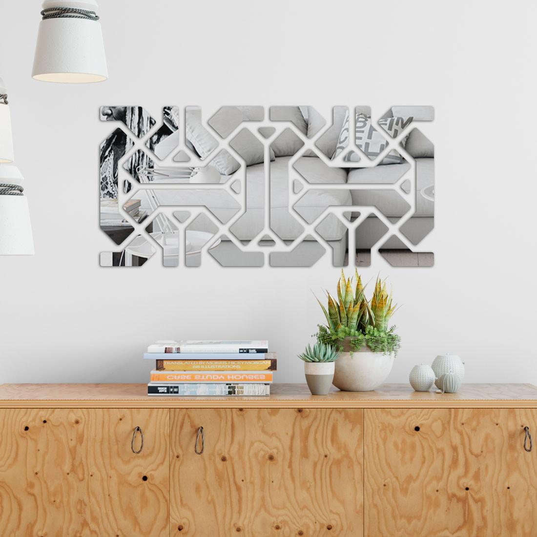 Espelho Decorativo Geométrico Abstrato