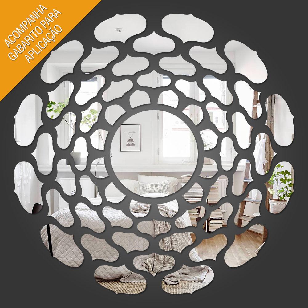 Espelho Decorativo Mandala Indiana