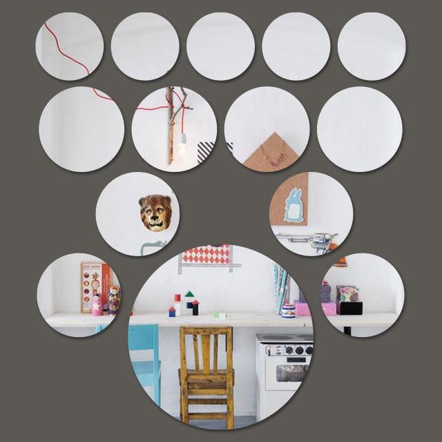 Espelho Decorativo Mini Círculos - 14 Peças - 2