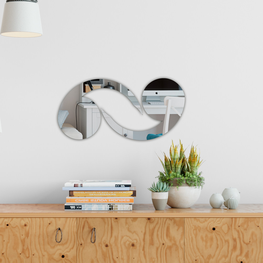 Espelho Decorativo Círculo Abstrato