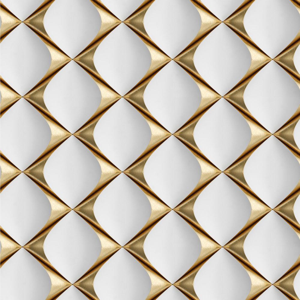 Papel de Parede 3D Gold Estampa