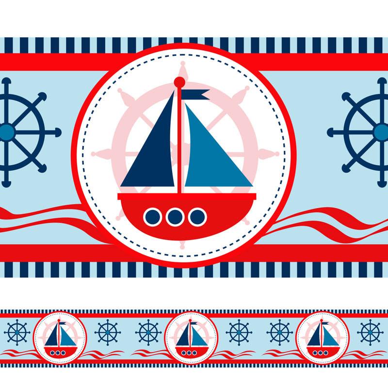 Faixa Decorativa Barco Marinheiro