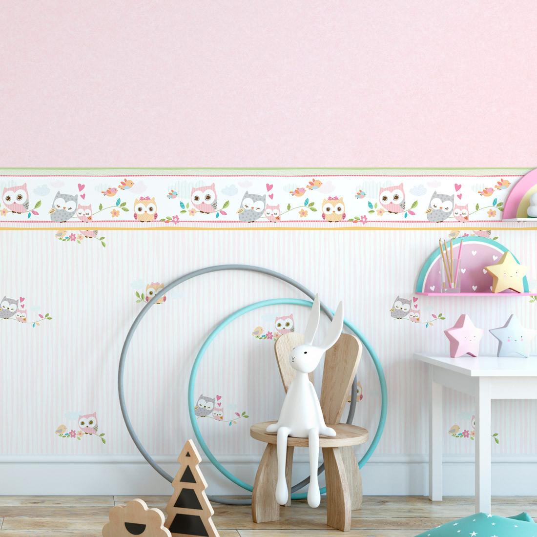 Faixa Decorativa Infantil Corujas - Nido