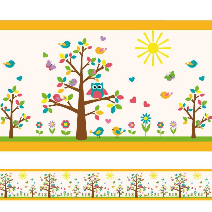 Faixa Decorativa Corujas II