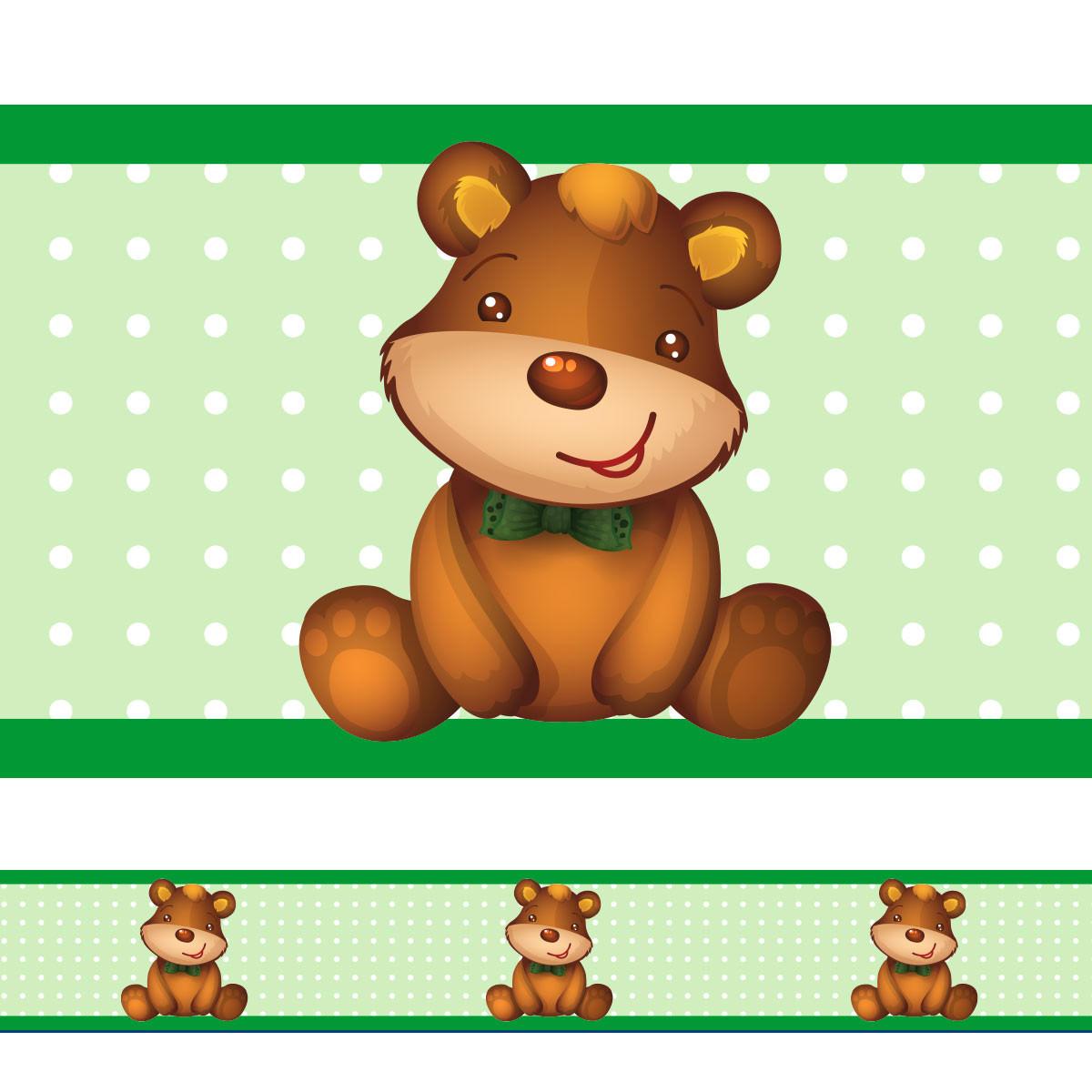 Faixa Decorativa Ursinho (Verde)