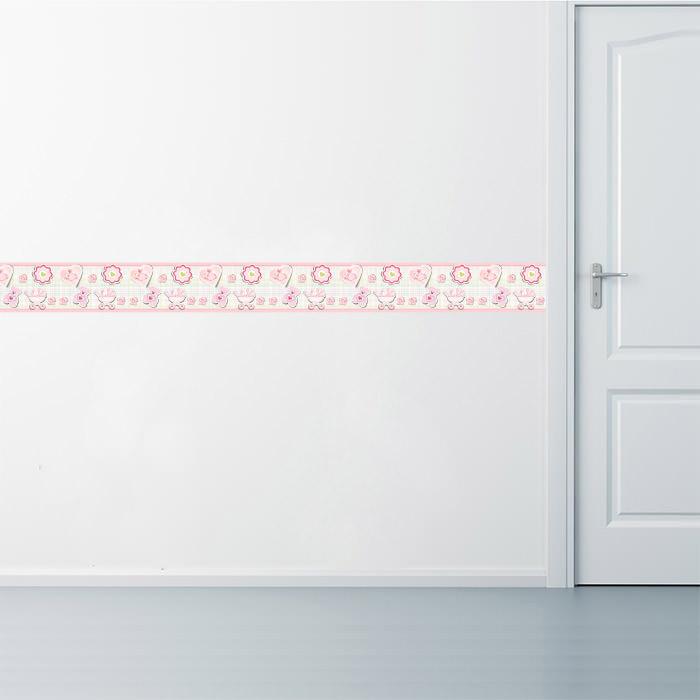 Aplicação da Faixa Decorativa Menina Xadrez