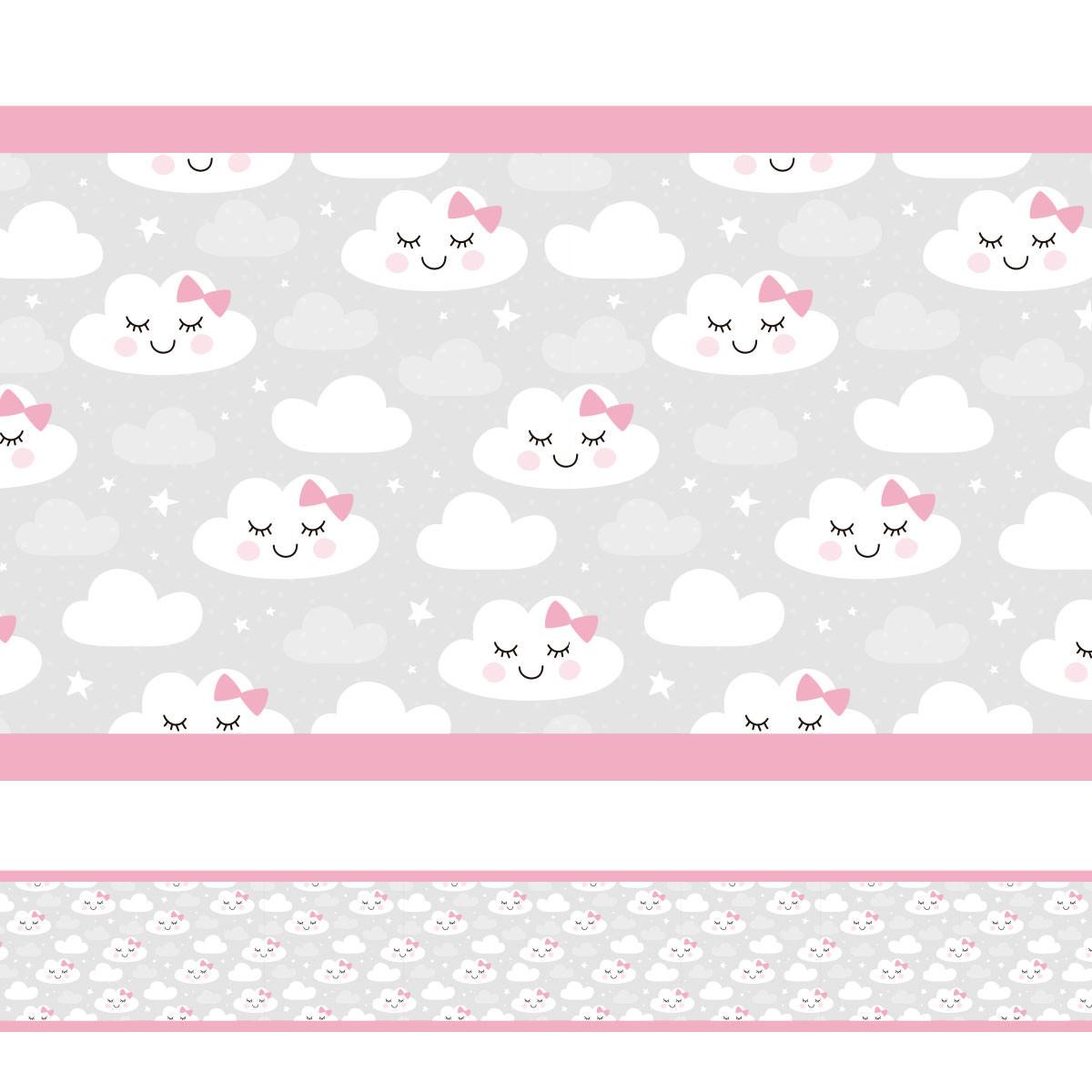 Faixa Decorativa Chuva de Bençãos Borda Rosa