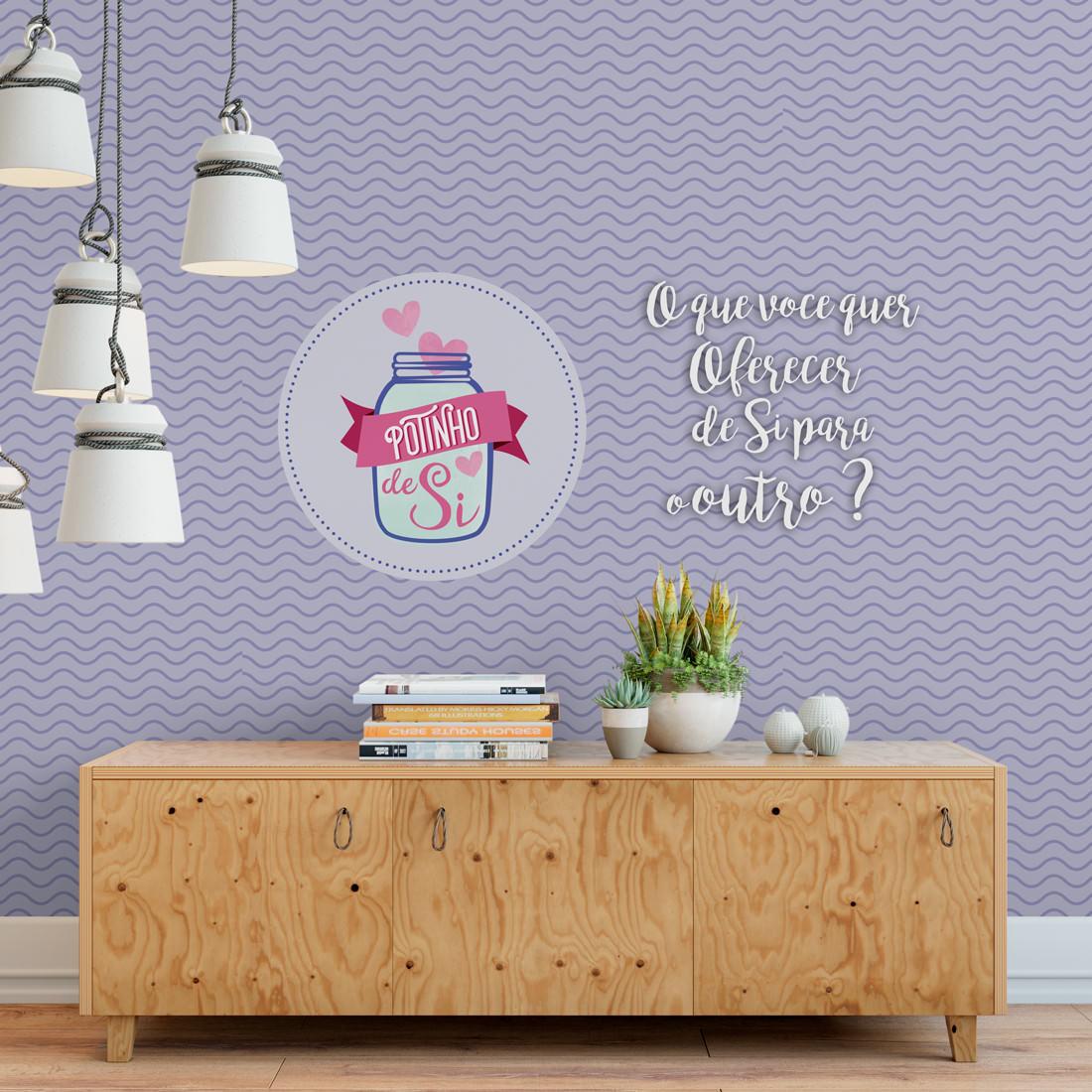 Personalizado - Papel de Parede - Frase - Logo Potinho
