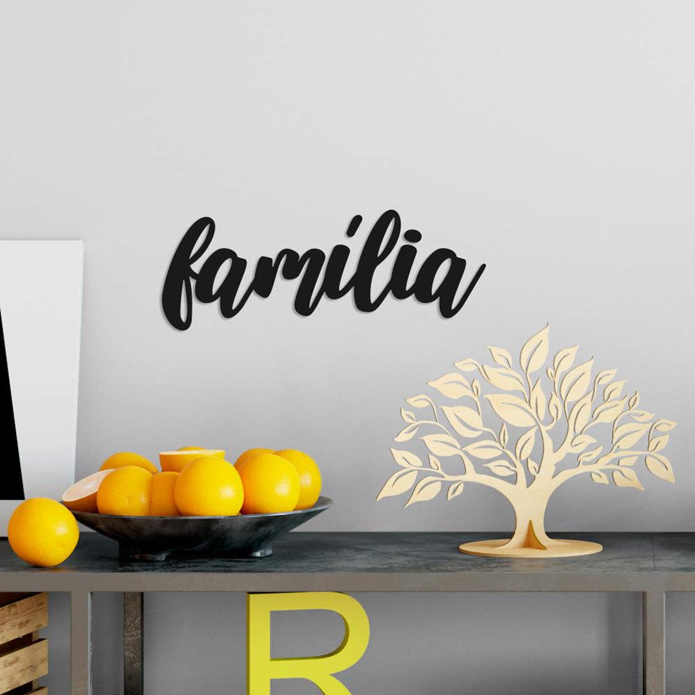 """Palavra Decorativa 3D """"Família"""""""