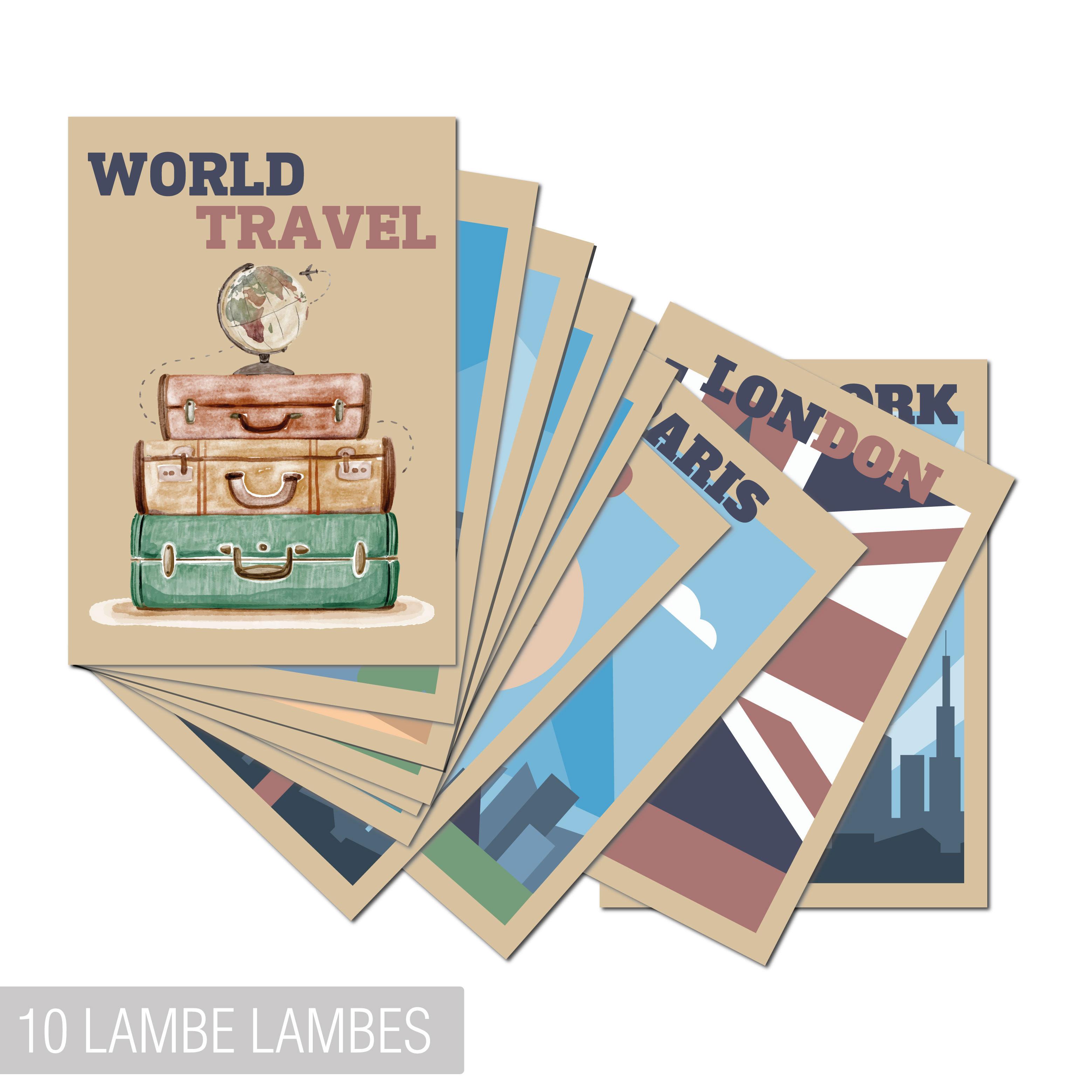 Kit 10 Lambe Lambes World Travel