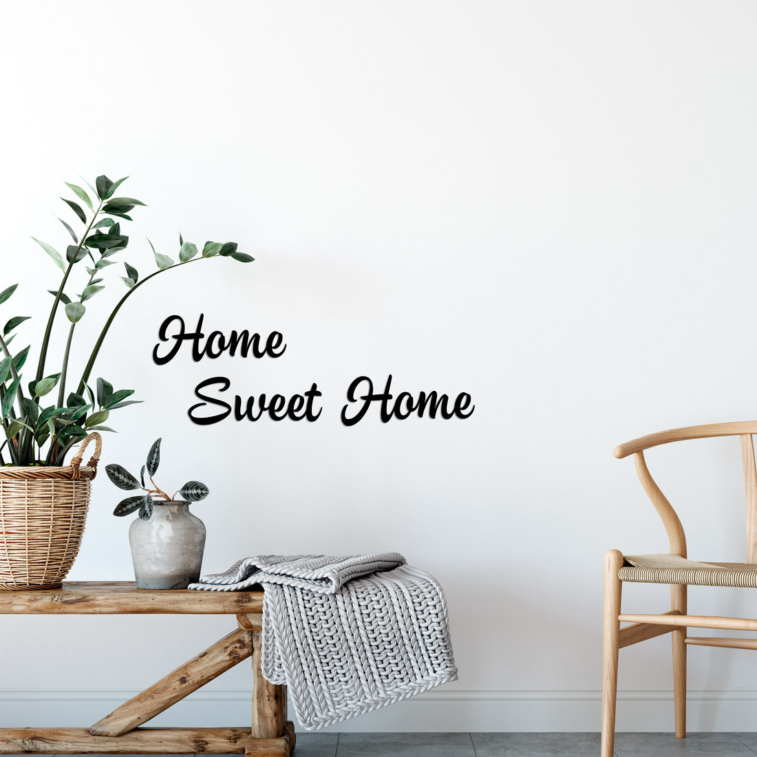 """Frase Decorativa 3D """"Home Sweet Home"""""""