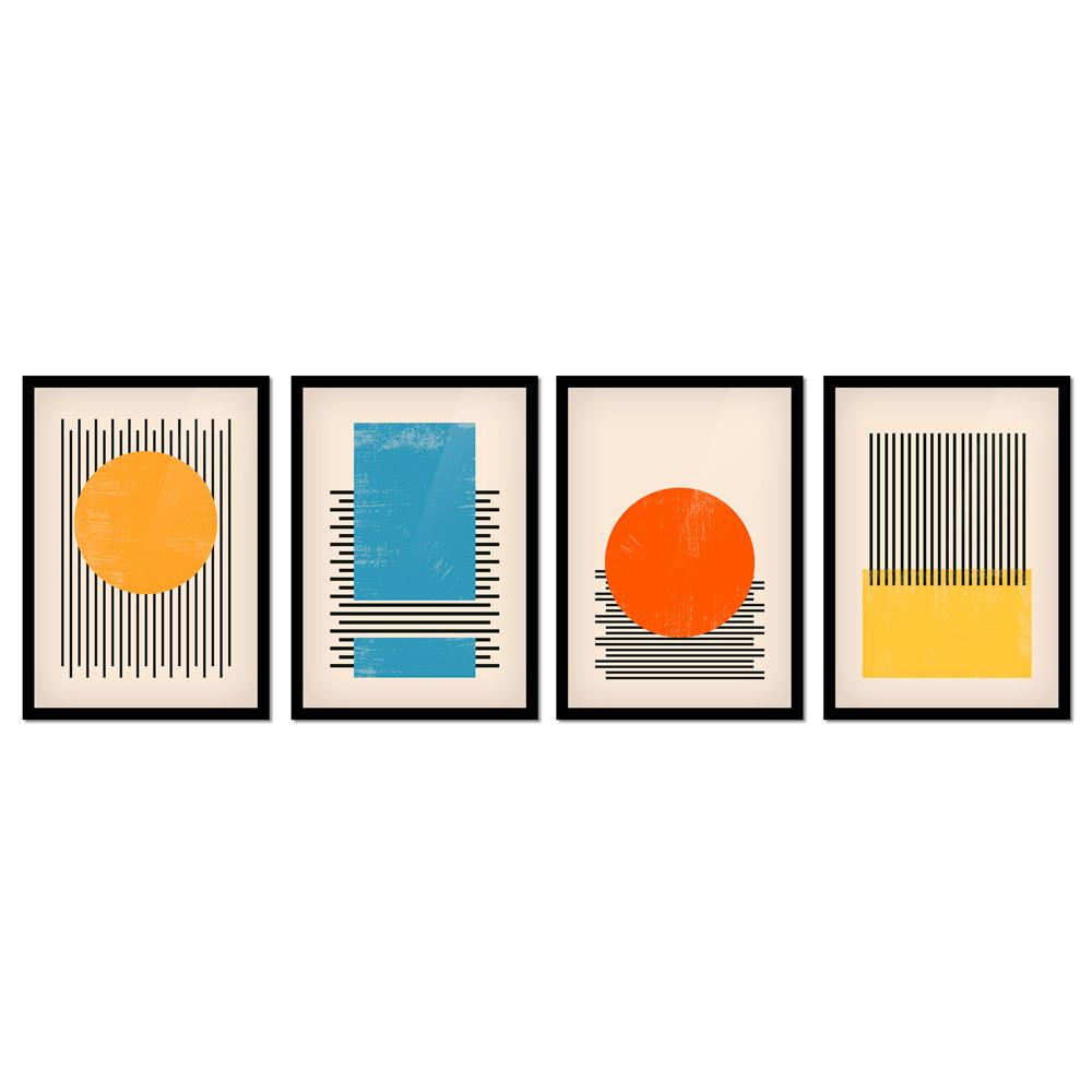 Conjunto de Quadros Minimalista Abstrato