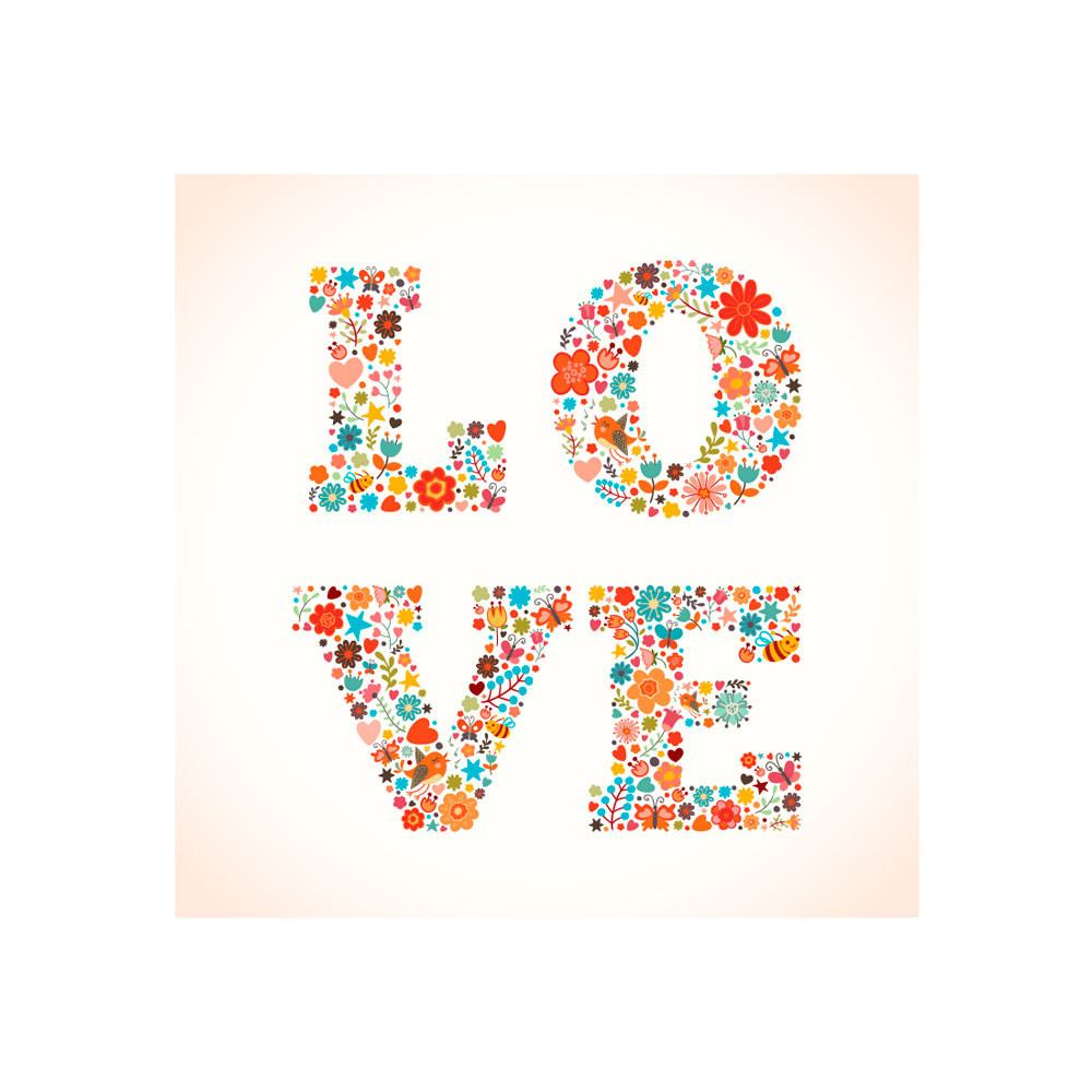 Poster Decorativo Love Estampa Floral