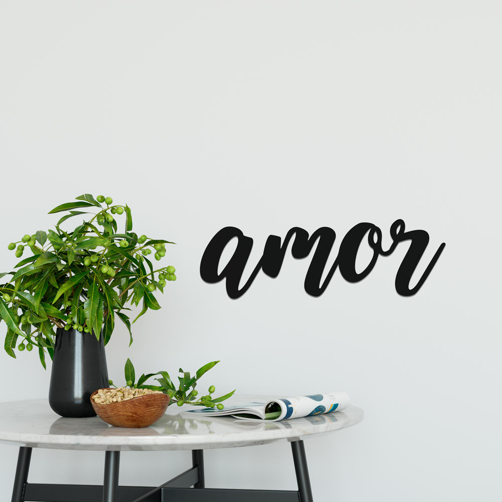 """Palavra Decorativa 3D """"Amor"""""""
