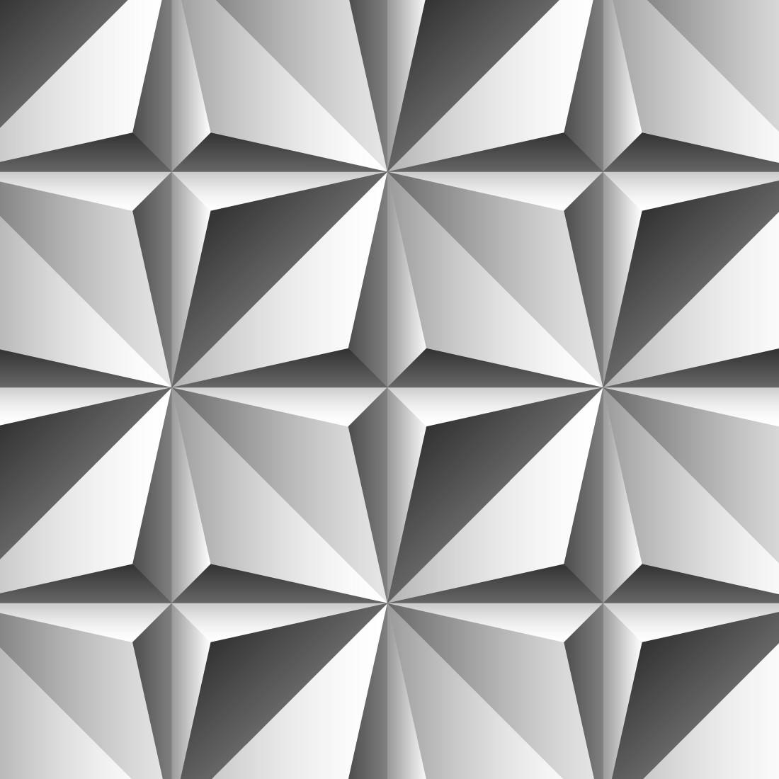 Papel De Parede 3D Origame Cinza
