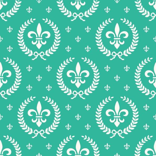 Papel de Parede Infantil Flor de Lis (Verde Bebê)